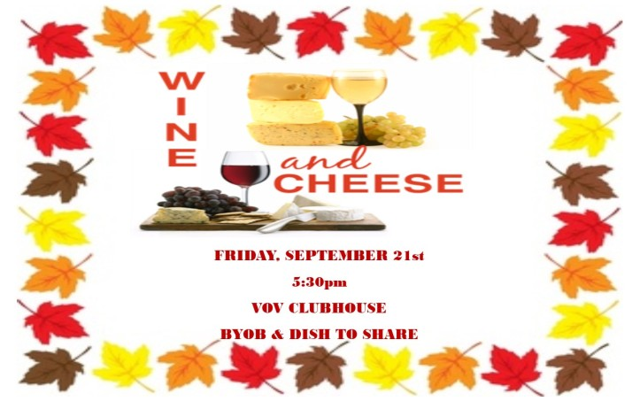 VOV Wine and Cheese September